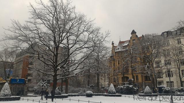 Winter und (frischer) Schnee sind schön